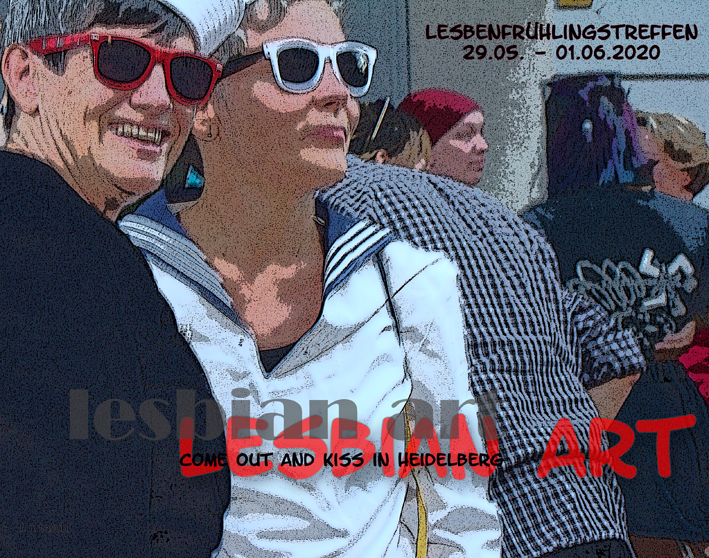 Titelfoto Lesbian Art - Come out and kiss in Heidelberg